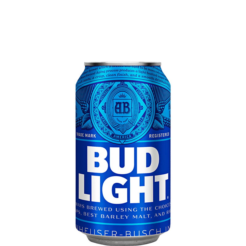 Can of Bud Light beer
