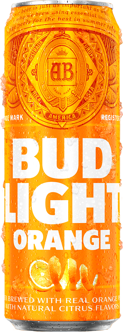 Can of Bud Light Orange Beer