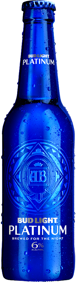 Bottle of Bud Light Platinum Beer